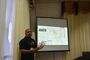 Roche Bhola presenting the Gold Rush Storymap