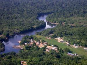 Tepu, een Trio dorp in het zuiden van Suriname