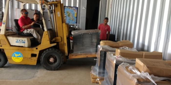 Solar accu's in Tepu